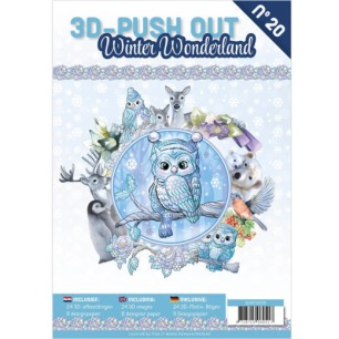 Cardbook - 3D utstansat - Winter Wonderland no 20 - Cardbook - 3D utstansat - Winter Wonderland no 20