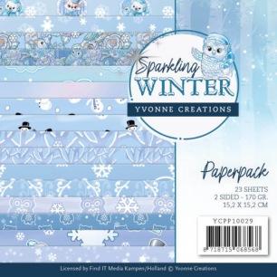 Yvonne Creations Pappersblock - Sparkling Winter - Yvonne Creations Pappersblock - Sparkling Winter