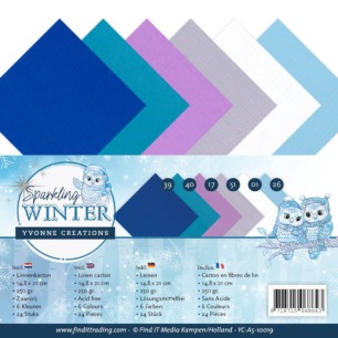 Yvonne Creations - Pappersblock - Sparkling Winter - Yvonne Creations - Pappersblock - Sparkling Winter