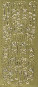 Stickers - Champangeglas, guld - Stickers - Champangeglas, guld