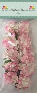 Dixi Craft - Aritifical Flower - Vit/Rosa - Dixi Craft - Aritifical Flower - Vit/Rosa