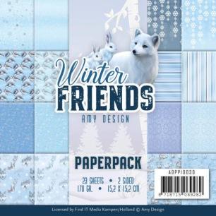 Amy Design Pappersblock - Winter Friends - Amy Design Pappersblock - Winter Friends