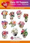Easy 3D Utstansat - Flower in Vases