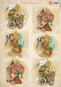Marianne Design Klippark - Birds & birdcage 2 - Marianne Design Klippark - Birds & birdcage 2