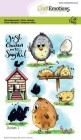 CraftEmotions - Clerstamps - Chicken 1