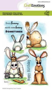 CraftEmotions - Clearstamps - Bunny 1 - CraftEmotions - Clearstamps - Bunny 1