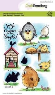 CraftEmotions - Clerstamps - Chicken 1 - CraftEmotions - Clerstamps - Chicken 1