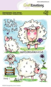 CraftEmotions - Clearstamps - Sheep 1 - CraftEmotions - Clearstamps - Sheep 1
