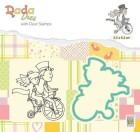 Nellie Snellen - Dies & Clearstamp - DADA - Love on a bike