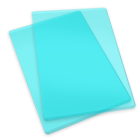 Sizzix stansplattor - mint, 2 st