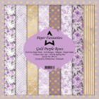 Pappersblock - Paper Favourites - Gold Purple Rose