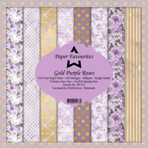 Pappersblock - Paper Favourites - Gold Purple Rose - Pappersblock - Paper Favourites - Gold Purple Rose