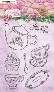 Studiolight - Clearstamps - English Garden - Cup of Tea - Studiolight - Clearstamps - English Garden - Cup of Tea