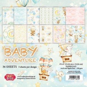 Craft & You - Pappersblock - Baby Adventure - Craft & You - Pappersblock - Baby Adventure