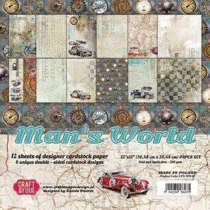 Craft & You - Dubbelsidiga Papper - Man's World - Craft & You - Dubbelsidiga Papper - Man's World