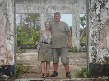 Lena & Anders vid gamla mässen i Buchanan
