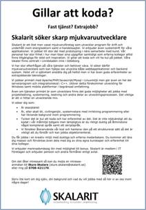 Söker du jobb som kodare & mjukvaruutvecklare? Skalarit är ett IT företag i Göteborg som söker kodare & mjukvaruutvecklare för utveckling av båda webbapplikationer & backendsystem. Kontakta oss så berättar vi mer!