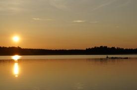 Fisketur på Lillsvan. Foto: Stina Elg