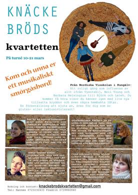 Knäckebrödskvartetten från Nordiska Visskolan i Kungälv.
