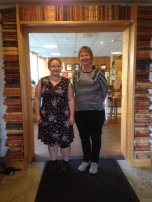 Tack Gillian och Jolanta, vänliga bibliotekarier på Anderstorps bibliotek.