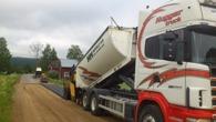 Asfaltering väg åt vägförening i Hammarstrand