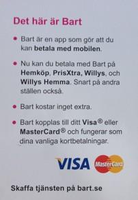 Betala med mobilen hos Willys!