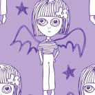 0,8 m klipp! Batgirl Lila