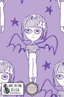 1 m klipp! Batgirl Lila