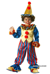 Clowndräkt, barn stl 122/128 - Clowndräkt, barn stl 122/128