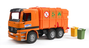 Bruder, Sopbil MB Actros Orange 45cm - Bruder, Sopbil MB Actros Orange 45cm