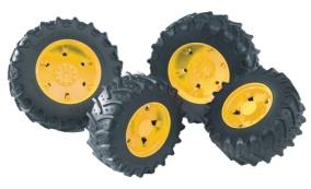 Bruder Tvillinghjul gula fälgar - Bruder Tvillinghjul gula fälgar