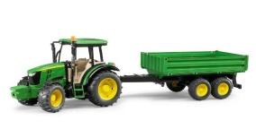 Bruder John Deere Traktor Med Tippsläp - Bruder John Deere Traktor Med Tippsläp