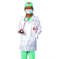 Doktorskläder, utklädnad doktor 4-6 År
