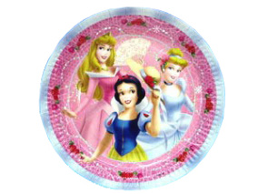 Disney Princess, Tallrikar, 8 st, 23 cm - Disney Princess, Tallrikar, 8 st, 23 cm