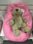 Babypuff, sittsäck till bebisar - Babypuff Rosaprickig