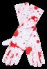 Blodiga långa handskar