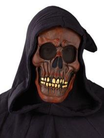 Döskalle - blodröd mask med huva - Döskalle - blodröd mask med huva