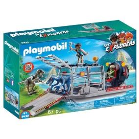 Playmobil Dinos - Propellerbåt med dinosauriebur 9433 - Playmobil Dinos - Propellerbåt med dinosauriebur 9433