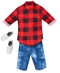 Barbie Ken kläder, skjorta, shorts, skor - Barbie Ken kläder, skjorta, shorts, skor