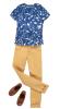 Barbie Ken kläder, t-shirt, byxa, skor