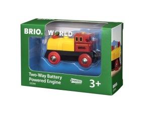 BRIO - Rail & Road 33594 Batteridrivet lok - röd/gul - BRIO - Rail & Road 33594 Batteridrivet lok - röd/gul