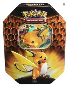 Pokemon Hidden Fates Raichu GX Tin Box - Pokemon Hidden Fates Raichu GX Tin Box