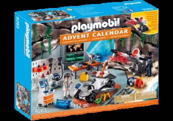 Playmobil 9263 Adventskalender Spy Team verkstad - Playmobil 9263 Adventskalender Spy Team verkstad