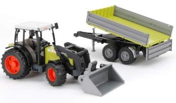Bruder, Claas traktor med släp - Bruder, Claas traktor med släp