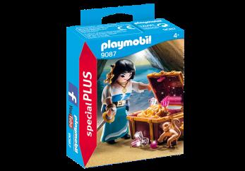 Playmobil 9087, Pirat med skatt - Playmobil Pirat med skatt
