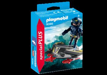 Playmobil 9086, Sky Knight med jetplan - Playmobil Sky Knight med jetplan