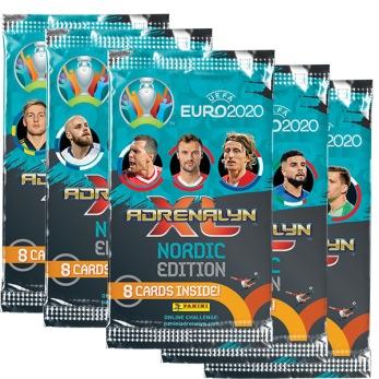 1-PACK Uefa Euro 2020 booster fotbollskort samlarkort - Euro 2020 booster fotbollskort samlarkort