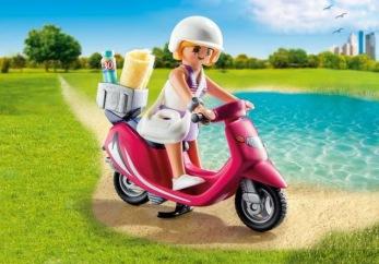 Playmobil 9084, Tjej med scooter - Playmobil 9084, Tjej med scooter