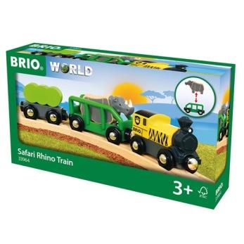 BRIO® World - 33964 Safari Noshörningståg 3+ - BRIO® World - 33964 Safari Noshörningståg 3+