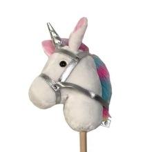 Käpphäst - Vit med regnbågsman